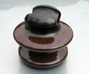 Old-style ceramic power insulator