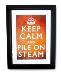Steampunk 'Keep Calm' poster No.2