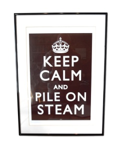 Steampunk 'Keep Calm' poster No.1